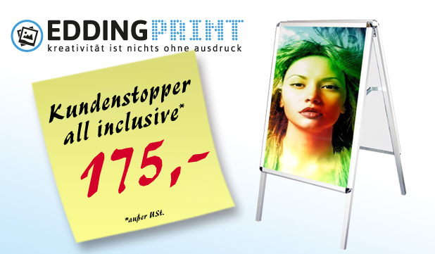 Kundenstopper all inclusive 175,-